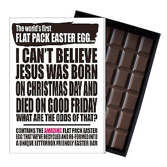 Funny Flat Easter Egg Chocolate Bar Greeting Card Gift Men Women Friend UK EIYF115