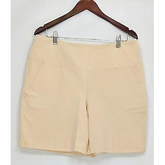 Women with Control Women's Shorts Tummy Control W/ Pockets Beige A292381