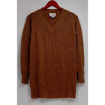 Linea por Louis Dell ' Olio camisola XXS pullover V-Neck Tunic Camel bege A259108