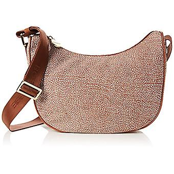 Borbonese Moon Women's Beige Cross-body bag (Coco) 29x24x12 cm (W x H x L)