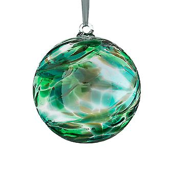 Sienna Glass 10cm Birthstone Ball, May Emerald