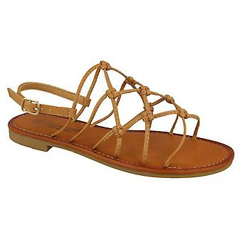 Savannah Womens/Ladies Synthetic Wide Fitting Strappy Knot Sandals