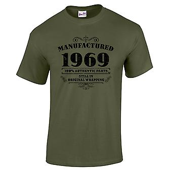 Men's 50th Birthday T-Shirt Manufactured 1969 Novelty Gifts For Him
