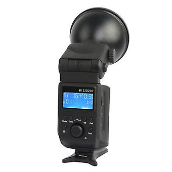 BRESSER SJD-200 Speedlite/Studio flash med batteri