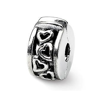 925 plata esterlina acabado reflexiones bisagras amor corazones clip perla encanto colgante collar joyas regalos para las mujeres