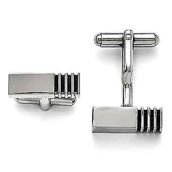 Stainless Steel Polished Antiqued Inlay Cuff Links Jewelry Gifts for Men