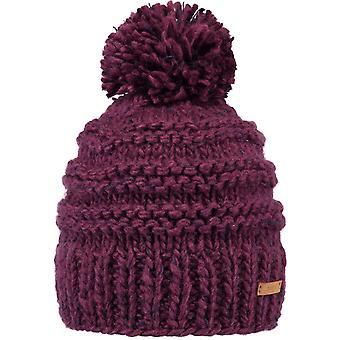 Barts Jasmin Bobble Hat in Maroon