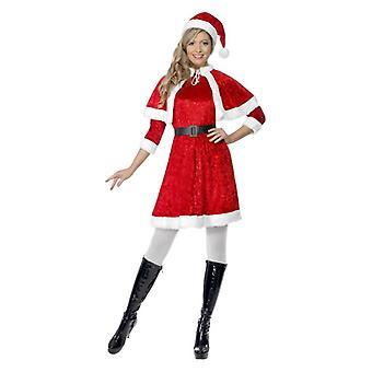 Naisten aikuisten Miss Santa joulu Fancy Dress puku