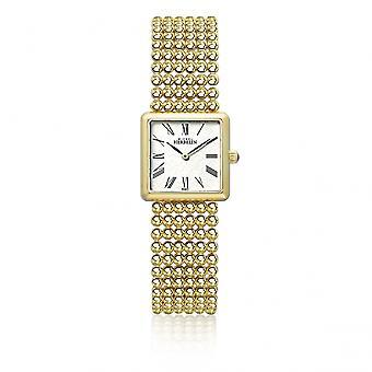 Michel Herbelin 17493-BP08 Ladies Gold Tone Perle Bracelet Square Wristwatch