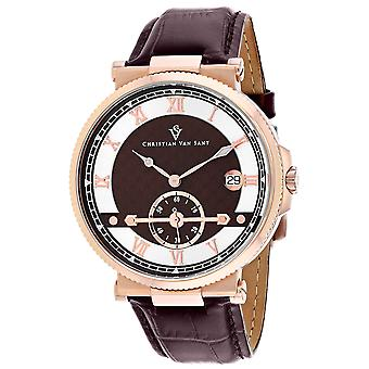 Christian Van Sant Men's Clepsydra Brown Dial Watch - CV1704