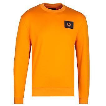 Fred Perry acid brights brann oransje genser
