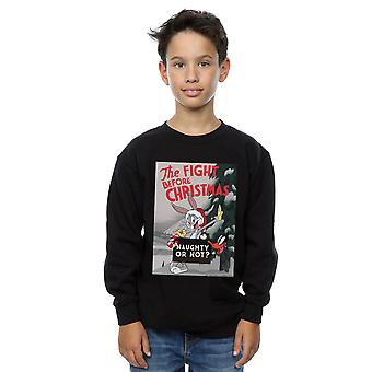 Looney Tunes Boys The Fight Before Christmas Sweatshirt