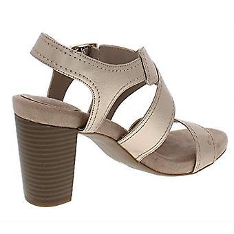 Giani Bernini dame Janett imiteret læder kjole sandaler guld 10, guld, størrelse 10,0
