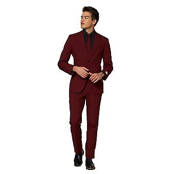 Blazing Burgundy Wine Red Suit Mister Burgundy Opposuit Slimline Premium 3 pieces EU SIZES