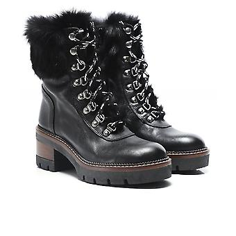 Kanna River Leather Fur Trim Boots