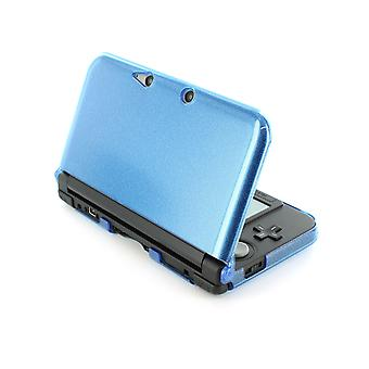 Zedlabz polycarbonate crystal hard case cover shell for nintendo 3ds xl (old 2012 model) protective armour - blue glitter armor