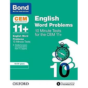 Bond 11 CEM English Word Problems 10 Minute Tests by Michellejoy Hughes