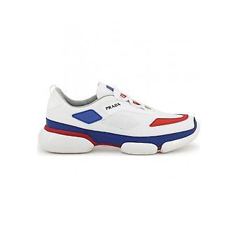 Prada - Chaussures - Baskets - 2EG253-F0YGZ - Hommes - Blanc,rouge - 40