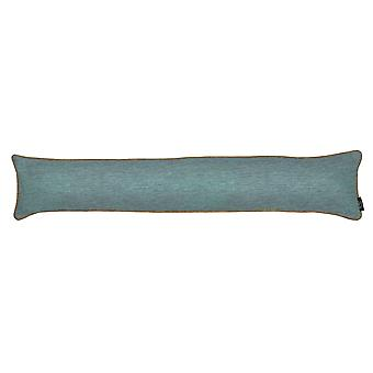 Mcalister textiles alston chenille blue + beige draught excluder