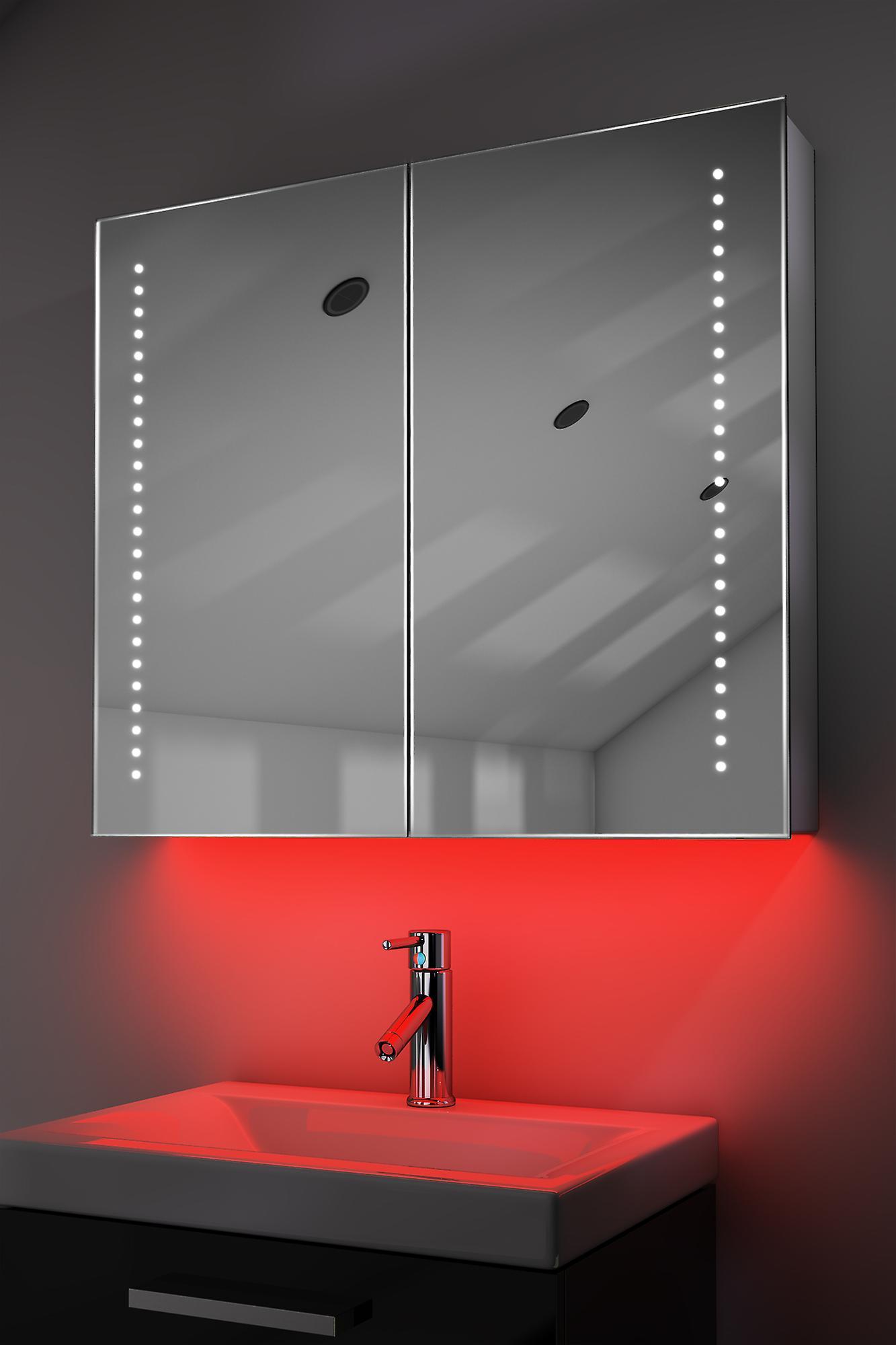 Demist Cabinet With LED Under Lighting, Sensor & Internal Shaver k363w