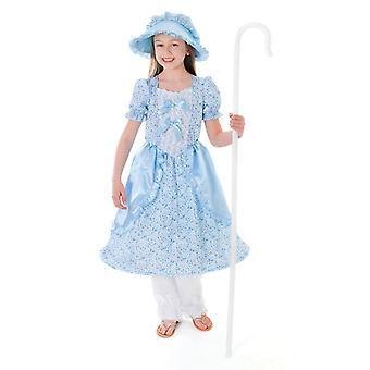 Bnov lilla Bo Peep kostym (klänning, mamelucker, Bonnet)