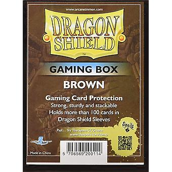 Dragon Shield Gaming Box bruin kaartspel