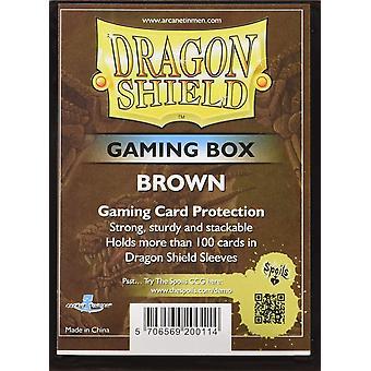 Dragon Shield Gaming Box marron jeu de cartes