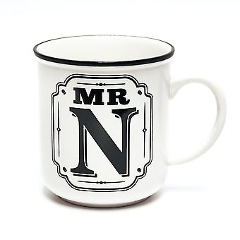 History & Heraldry Alphabet Mugs-mr N