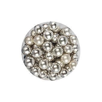 Paarse cupcakes 10mm parels-zilver-100g