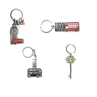 Metal London Souvenir Keyring - set of 4 -Collection 1