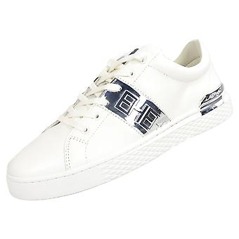 Ed Hardy Stripe Low Top White/silver Trainers