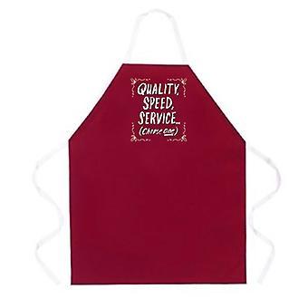 Quality Speed Service apron