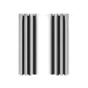 1 Pair Blockout Curtains Panels 140X213Cm