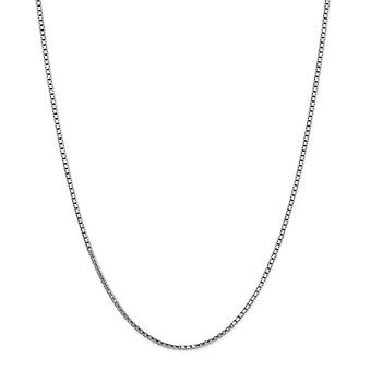 14k White Gold 1.9mm Box Chain Necklace Jewelry Gifts for Women - Length: 16 to 30