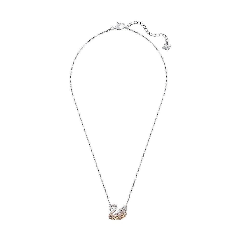 Swarovski Iconische Zwaan Rhodium Plated & Crystal Ketting 5215034