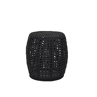 Light & Living Side Table 41x45cm Paton Rattan Black