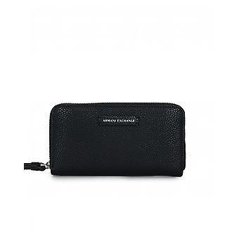 Armani Exchange Eco Leder Zip um Brieftasche