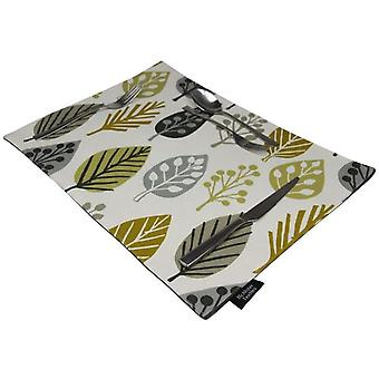 Mcalister textiles magda ochre yellow table placemat sets