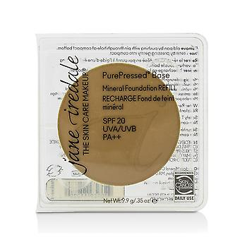 Pure geperste basis minerale foundation refill spf 20 teakhout 209849 9.9g/0.35oz