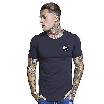 Sik Seide Ss-15811 Kurzarm Gym T-Shirt - Marine