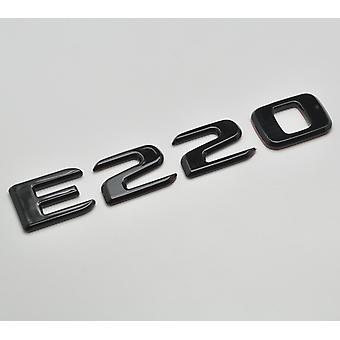 Gloss Black E220 Flat Mercedes Benz Car Model Rear Boot Number Letter Sticker Decal Badge Emblem For E Class W210 W211 W212 C207/A207 W213 AMG
