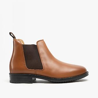 Roamers Archie Mens Twin Gusset Padded Leather Chelsea Boots Tan