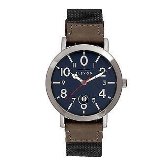 Elevon Mach 5 Canvas-Band Uhr w/Date - Schwarz