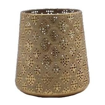 Laterne Gold Metall 15 cm