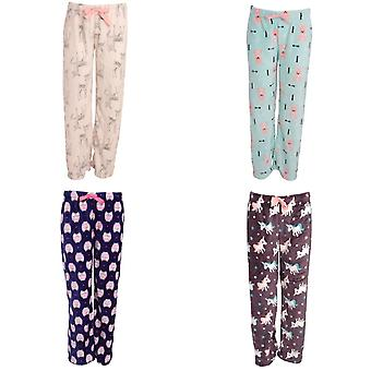 Selena Secrets Womens/Ladies Fleece Pyjama Lounge/Bottoms With Animal Design