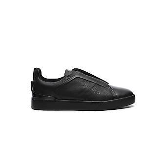 Z Zegna Lhvala2205xner Herren's Schwarze Leder Sneakers