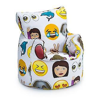 Klaar Steady Bed Kids Peuter Fauteuil | Comfortabel kindermeubilair | Soft Child Safe Seat Speelkamer Sofa | Ergonomisch ontworpen zitzakstoel (Emoji)