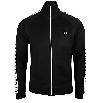 Fred perry men's black taped track top