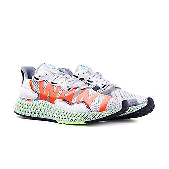 Adidas ZX 4000 4D -apos;I WANT I CAN-apos; Grey Knit Trainers