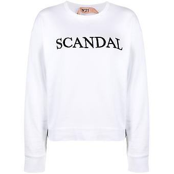 N°21 20en2s0e03263131101 Women's White Cotton Sweatshirt